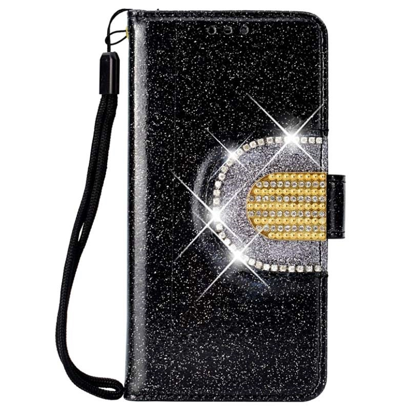 iPhone 11 Pro Max Glitter Wallet Case with Mirror