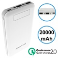 Green Cell PB93 Qualcomm QC 2.0 Power Bank - 20000mAh - White