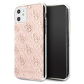 Guess 4G Glitter Collection iPhone 11 Case - Pink