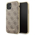 Guess Charms Collection 4G iPhone 11 Case - Brown
