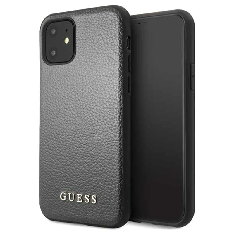 Guess Iridescent Collection iPhone 11 Case Black