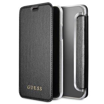 best website 1001b 38693 iPhone X Guess Iridescent Designer Book Flip Case