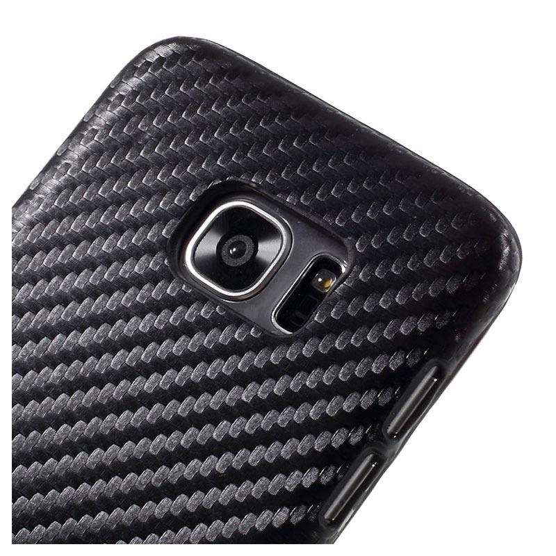 Samsung Galaxy S7 Edge Hard Case Carbon Fiber Black