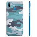 Huawei P20 Lite TPU Case - Blue Camouflage
