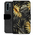 Huawei P30 Pro Premium Wallet Case - Golden Leaves
