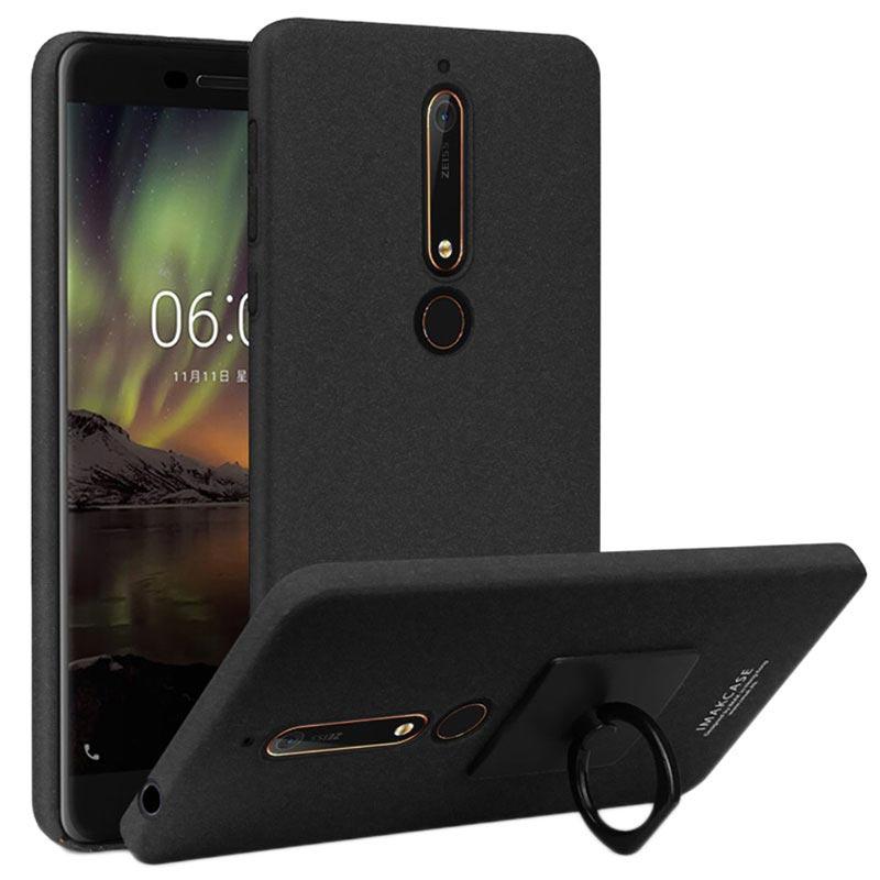 more photos 6d7e7 a6af9 Imak Cowboy Ring Nokia 6.1 Case with Screen Protector