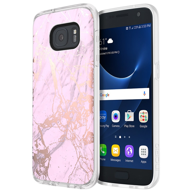 a pink samsung galaxy s7 case marble mytrendyphone. Black Bedroom Furniture Sets. Home Design Ideas