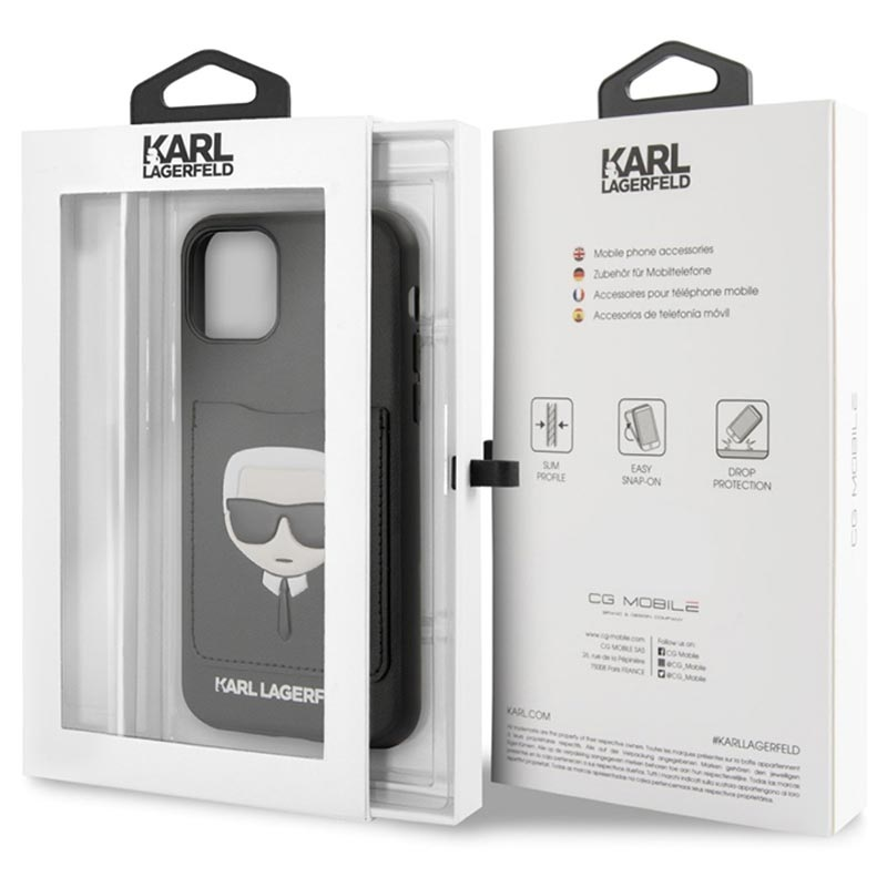 Karl Lagerfeld CardSlot iPhone 11 Pro Max Case - Black