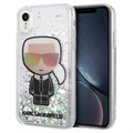 Karl Lagerfeld Ikonik Liquid Glitter iPhone XR Case - Transparent