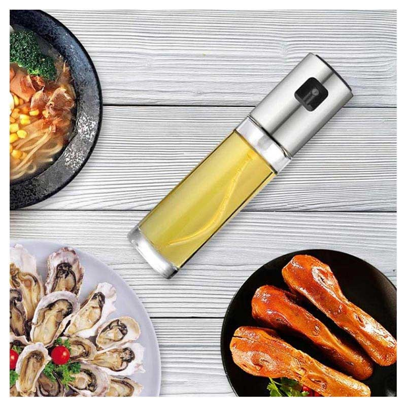 Kitchen Series Oil Spray Bottle - 100ml - Silver