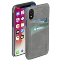 Krusell Sunne 2 Card iPhone XR Leather Case - Grey