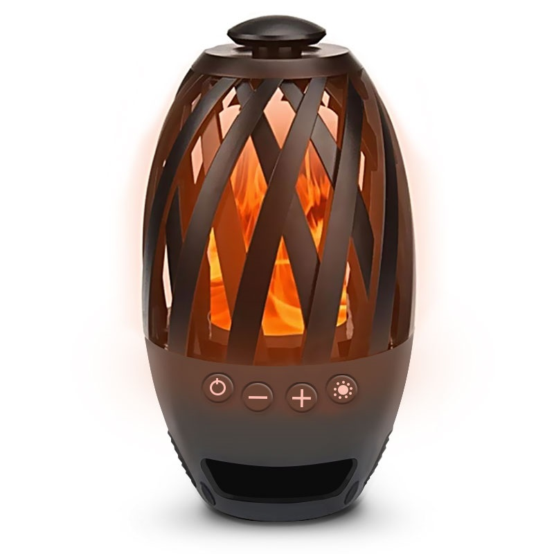 Led Flame Atmosphere Bluetooth Speaker, Led Flame Lamp Bluetooth Speaker