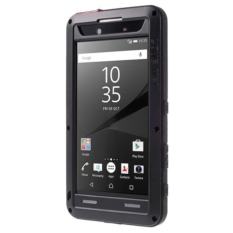 sony xperia z5 premium. sony xperia z5 premium, premium dual love mei powerful hybrid case - black