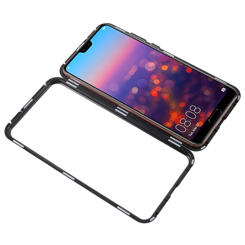 best value b3150 497dd Huawei P20 Pro Magnetic Case with Tempered Glass Back