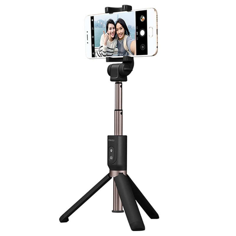meizu bluetooth selfie stick with tripod stand black. Black Bedroom Furniture Sets. Home Design Ideas