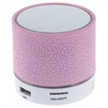 Mini Bluetooth Speaker with Microphone & LED Lights A9 - Cracked Pink