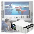 Mini Portable Full HD LED Projector T5 - White