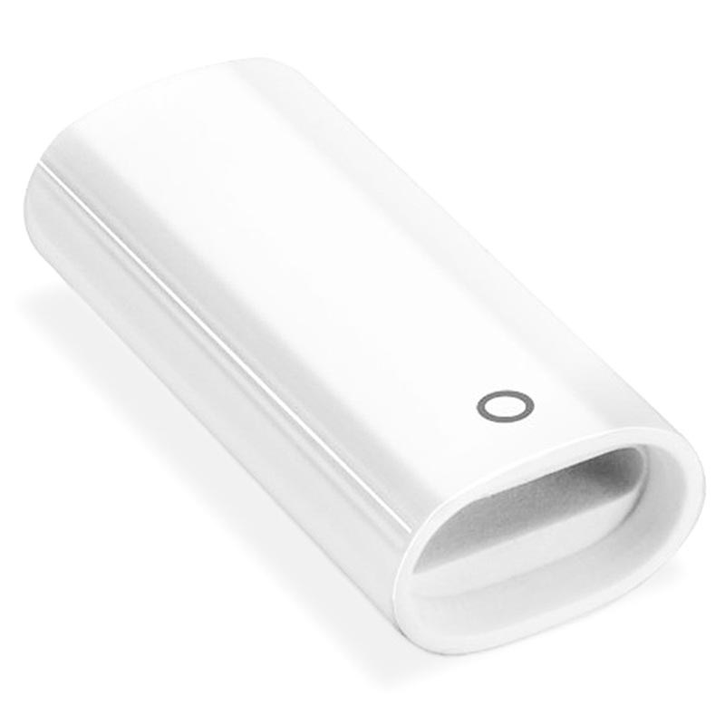 Miniature Portable Lightning Apple Pencil Adapter - White