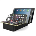 Multi-port Charging Station & Qi Wireless Charger - 30W - Black