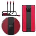 Nillkin Fancy Huawei Mate 20 Pro Case / Wireless Charger / 3-in-1 Cable - Red