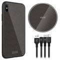 Nillkin Fancy iPhone XS Max Case / Wireless Charger / 3-in-1 Cable