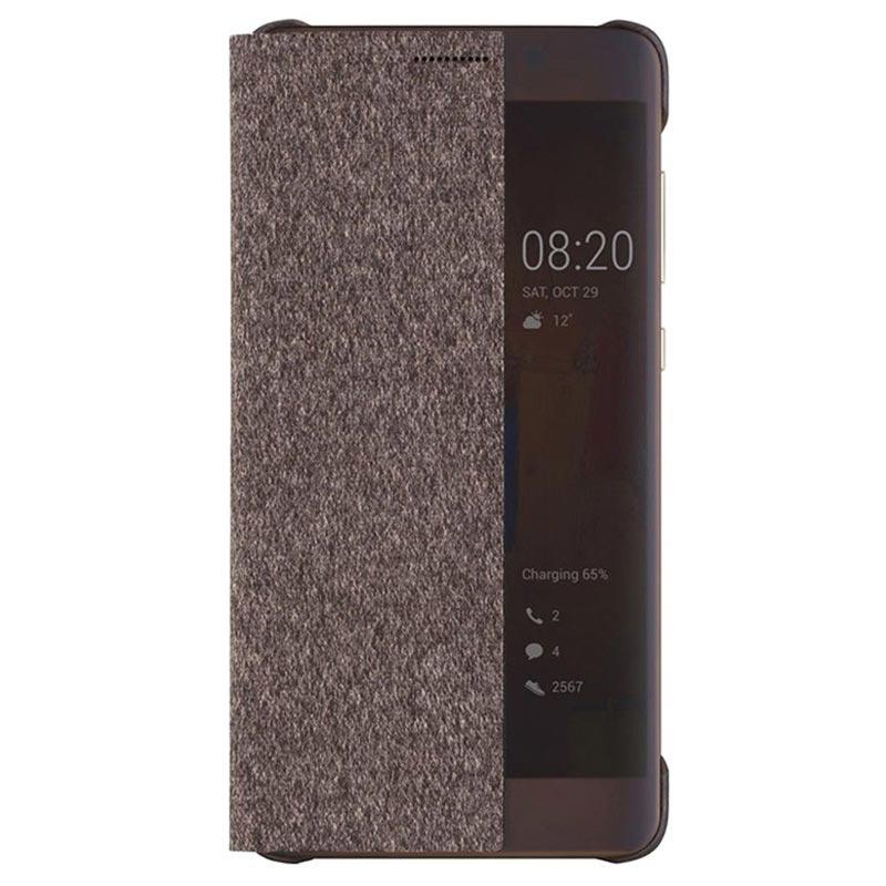 huawei mate 9 pro smart view flip case 51991819 brown. Black Bedroom Furniture Sets. Home Design Ideas