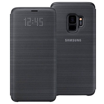 best service 5aed3 74130 Samsung Galaxy S9 LED View Cover EF-NG960PBEGWW