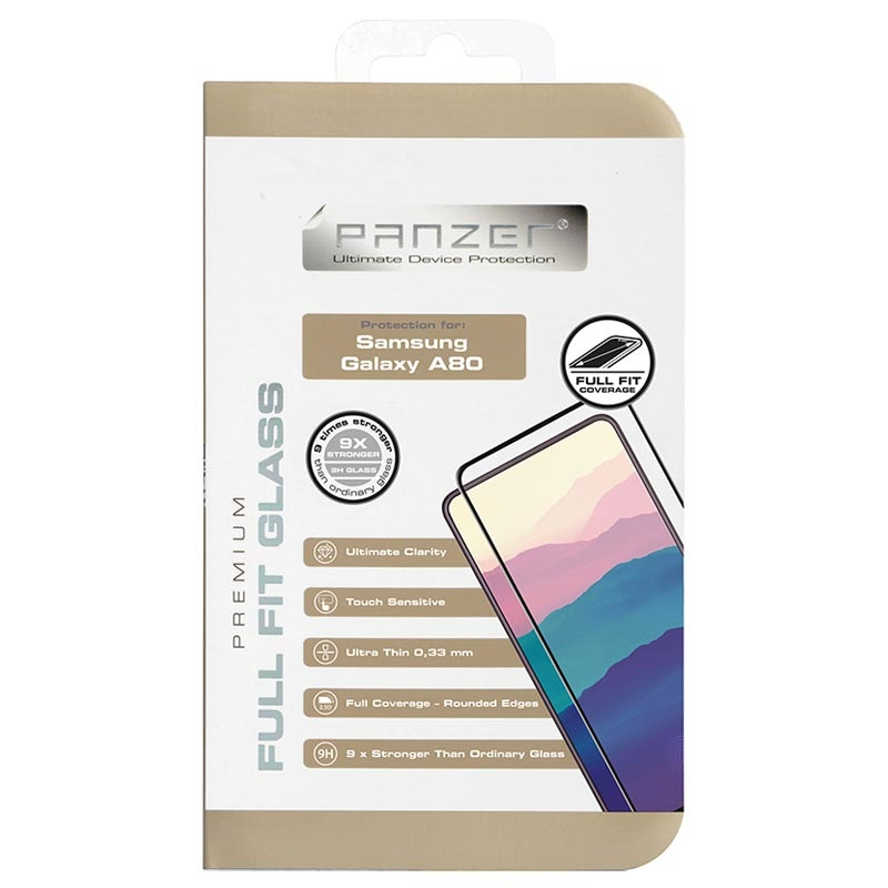 Panzer Premium Full-Fit Samsung Galaxy A80 Screen Protector - Black