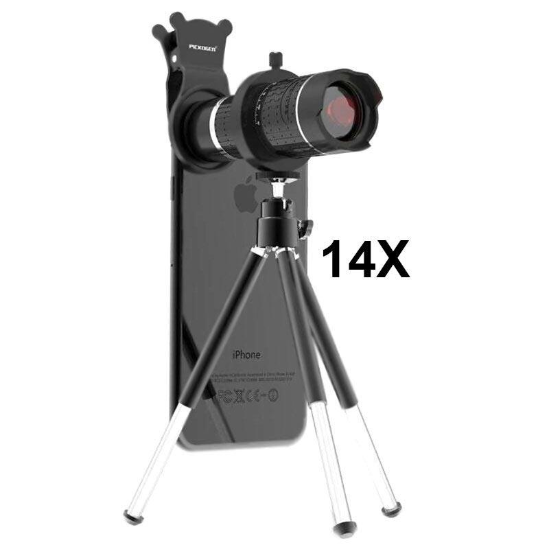 Pickogen 14X 4K Telescope Camera Lens with Mini Tripod