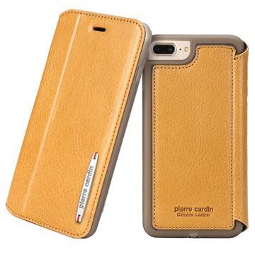 new product d9f51 86fb0 iPhone 7 Plus / iPhone 8 Plus Pierre Cardin Flip Leather Case