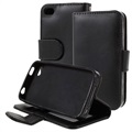 Premium iPhone 4 / 4S Wallet Case with Stand Feature - Black