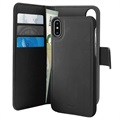 Puro 2-in-1 Magnetic iPhone X / iPhone XS Wallet Case - Black