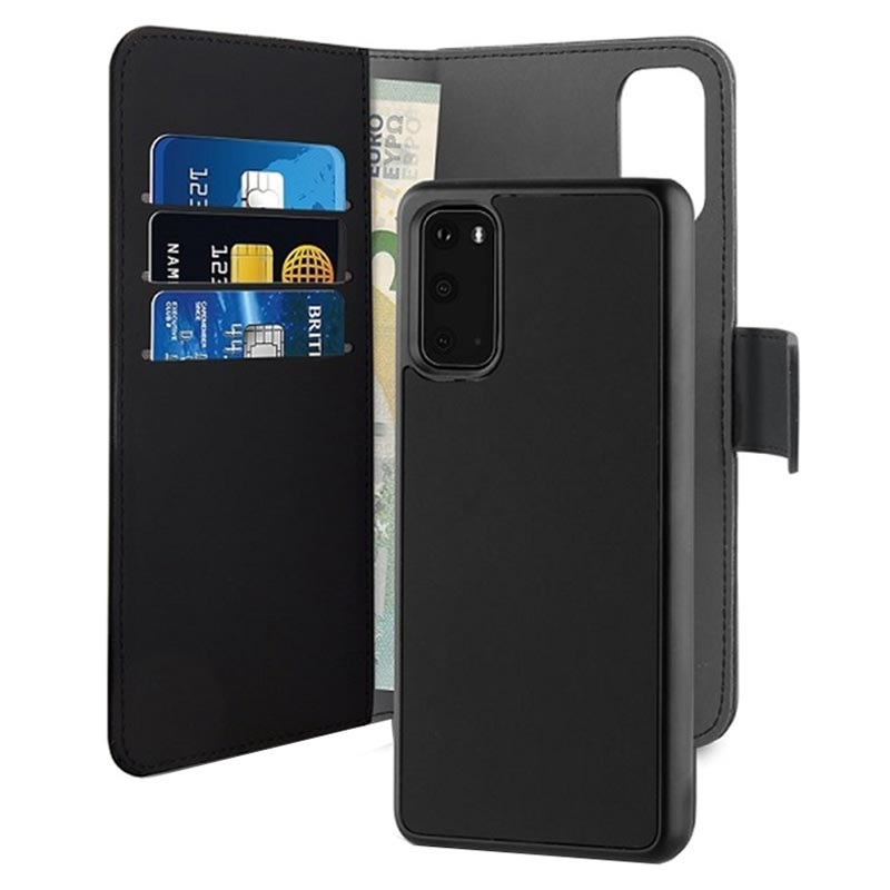 Puro 2-in-1 Magnetic Samsung Galaxy S20 Wallet Case - Black