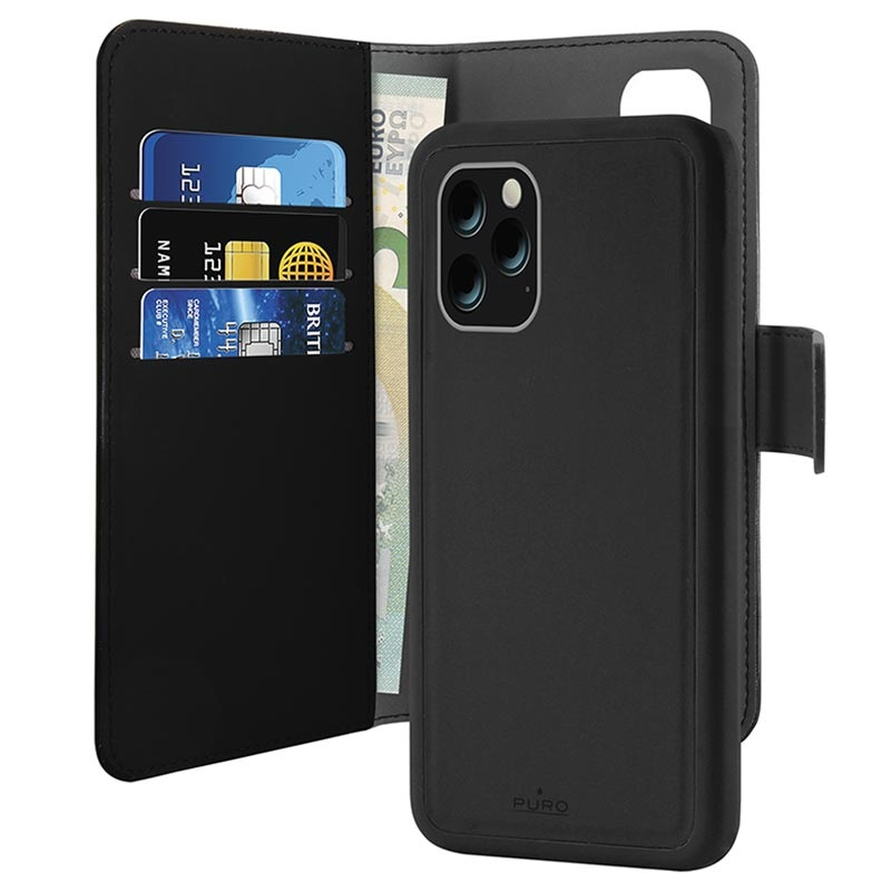 Puro 2-in-1 Magnetic iPhone 11 Pro Max Wallet Case - Black