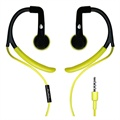 Puro IPHFSPORT1GRN Stereo In-Ear Headset - Black / Lime Green