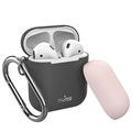 Puro Icon AirPods / AirPods 2 Silicone Case with Carabiner