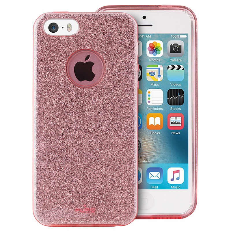 iphone 5 5s se puro glitter shine case rose gold. Black Bedroom Furniture Sets. Home Design Ideas