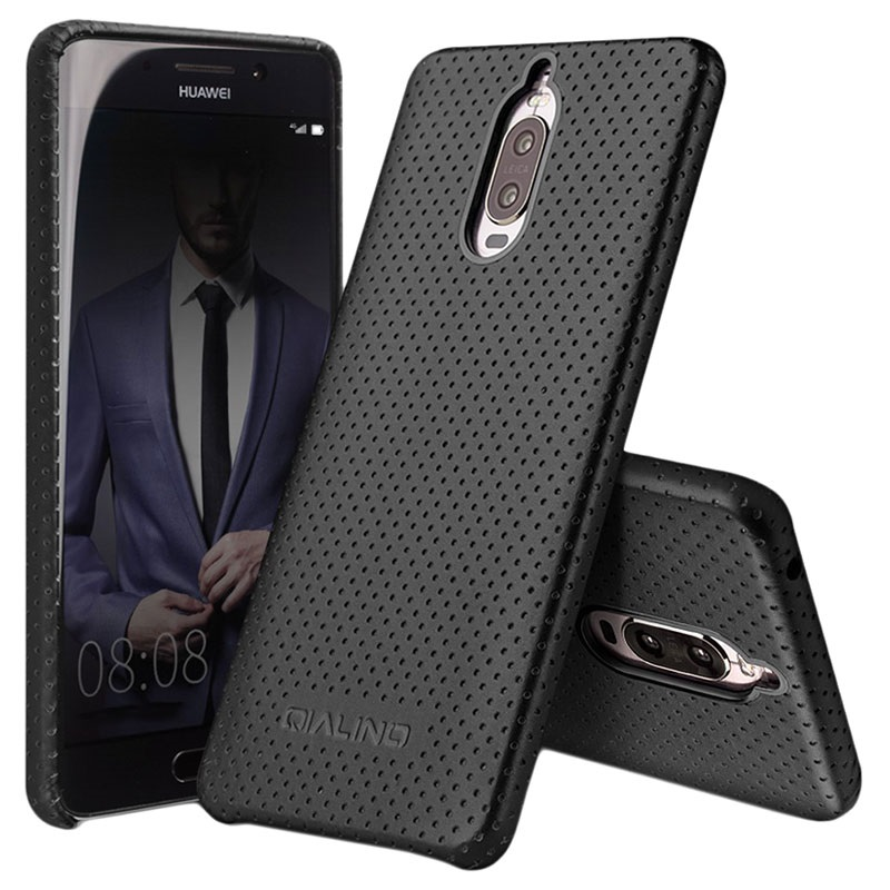 Huawei Mate 9 Pro Mate 9 Porsche Design Qialino Mesh Leather Case