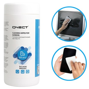 Qnect Screen Cleaning Wet Wipes - 100 Pcs.