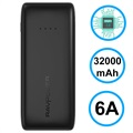 RAVPower Ace Triple USB Power Bank - 32000mAh - Black