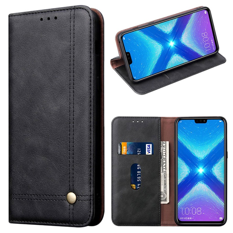Retro Series Huawei Honor 8X Wallet Case