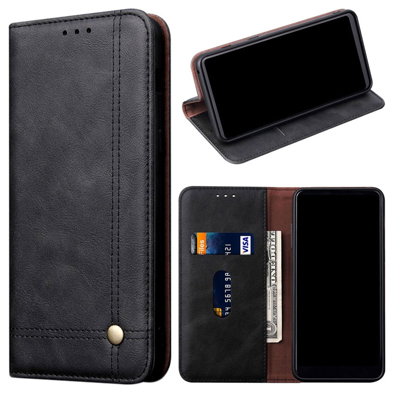 save off f5fe0 9762a Retro Series OnePlus 6T Wallet Case with Card Slot