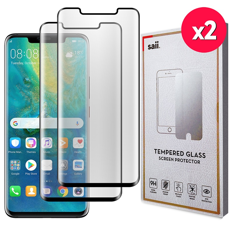 Saii 3D Premium Huawei Mate 20 Pro Tempered Glass - 2 Pcs