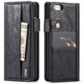iPhone 6 Plus/6S Plus Saii Retro Multi-slot Wallet Case - Black