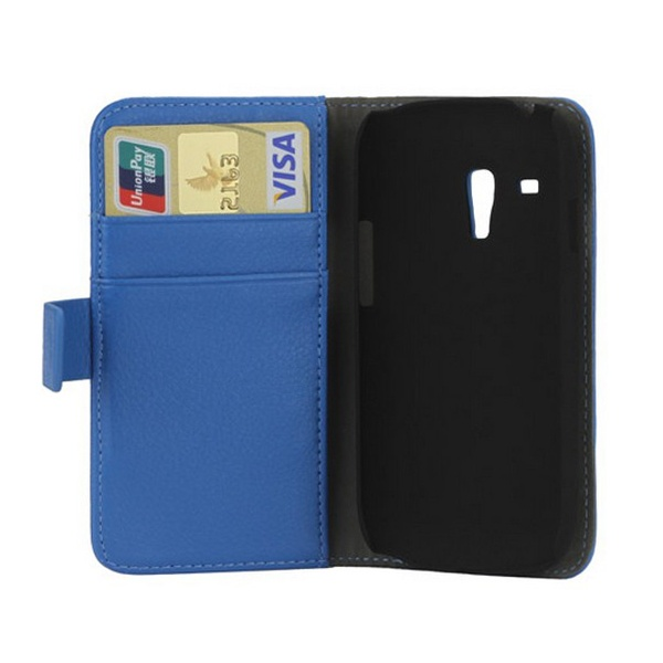 Samsung Galaxy S3 Mini I8190 Wallet Leather Case - Blue