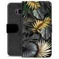 Samsung Galaxy S8 Premium Wallet Case - Golden Leaves
