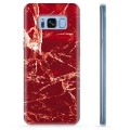 Samsung Galaxy S8 TPU Case - Red Marble