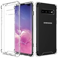 Scratch-Resistant Samsung Galaxy S10+ Hybrid Case - Transparent