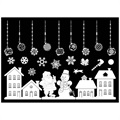 Self-Adhesive Christmas Decorative Stickers - White