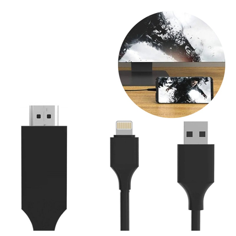 SiGN HDMI / Lightning Cable for iPhone/iPad - 2m - Black